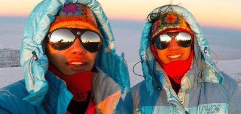 Youngest twins to reach the South Pole