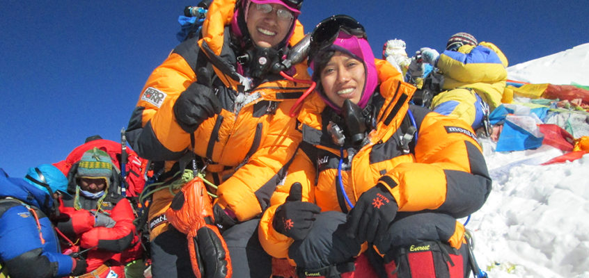 Youngest siblings to scale Mt Everest